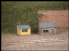 Ratio 237 2 Lineside Huts (1 brick, 1 wood)